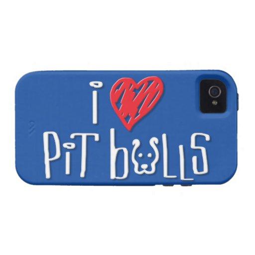 I Love Pit Bulls iPhone 4 Cover
