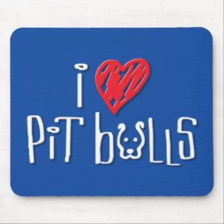 I Love Pit Bulls Mousepad