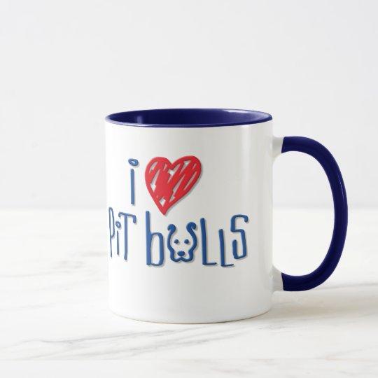 I Love Pit Bulls Mug