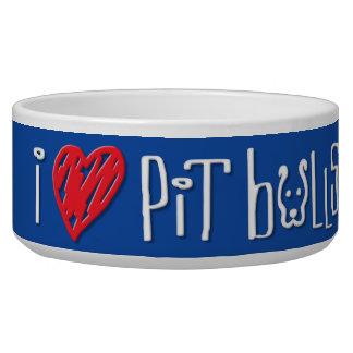 I Love Pit Bulls - Pit Bulls Love Me Bowl