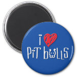 I Love Pit Bulls Refrigerator Magnets