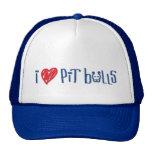 I Love Pit Bulls Trucker Hat