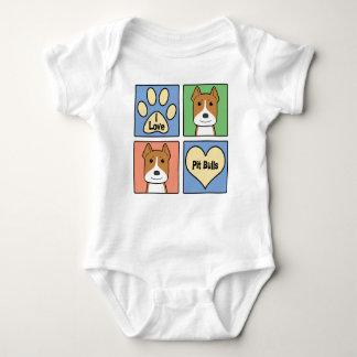 I Love Pitbulls Baby Bodysuit