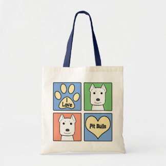 I Love Pitbulls Budget Tote Bag