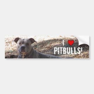 I Love Pitbulls Bumper Sticker