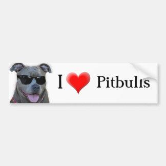 I Love Pitbulls Bumper Sticker Car Bumper Sticker