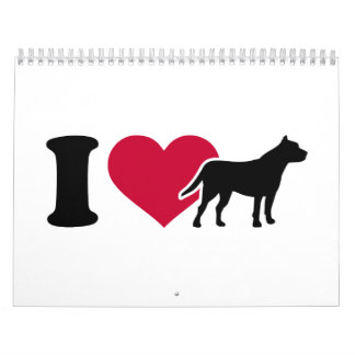 I love Pitbulls Calendar