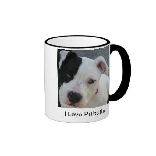 I Love Pitbulls Coffee Mug Cup