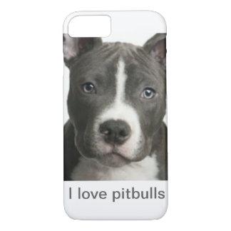 I love pitbulls iPhone 7 case