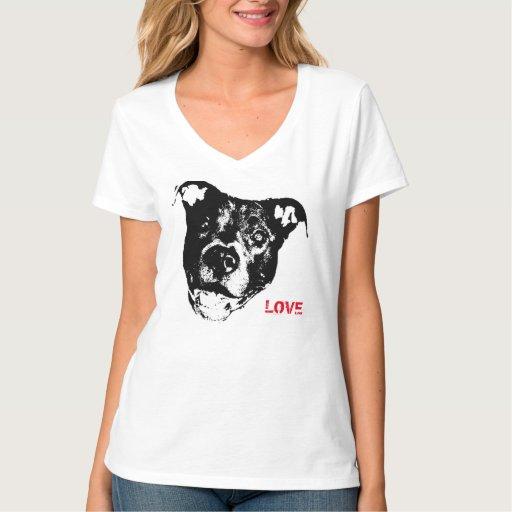 I Love Pitbulls Logo Design Cool Trendy Hip T Shirts