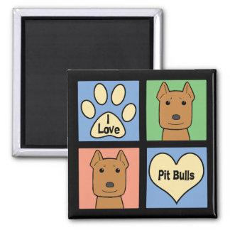 I Love Pitbulls Refrigerator Magnets