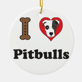 I Love Pitbulls Ornament