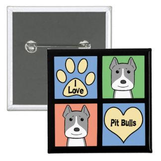 I Love Pitbulls Pinback Button