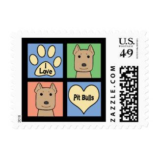 I Love Pitbulls Stamp
