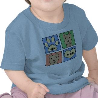 I Love Pitbulls T-shirts