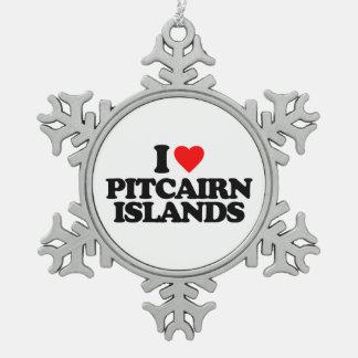 I LOVE PITCAIRN ISLANDS ORNAMENT
