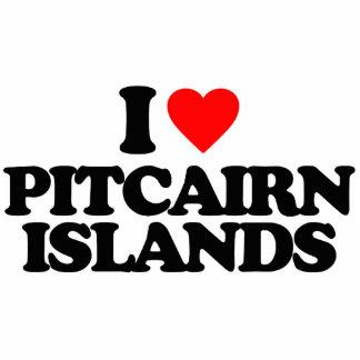 I LOVE PITCAIRN ISLANDS PHOTO CUTOUTS