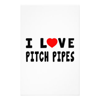 I Love Pitch Pipes Personalized Stationery