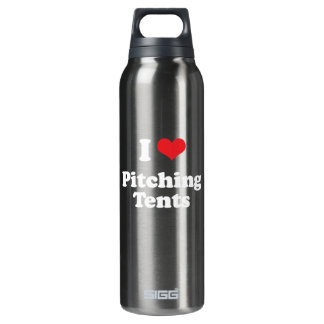 I LOVE PITCHING TENTS - .png 16 Oz Insulated SIGG Thermos Water Bottle