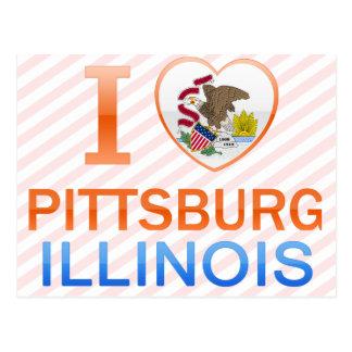 I Love Pittsburg, IL Postcard