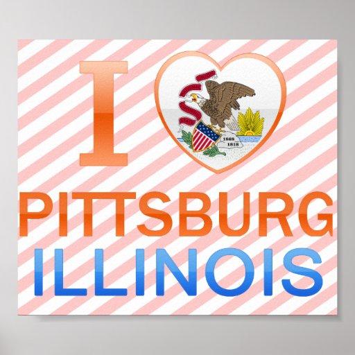 I Love Pittsburg, IL Posters