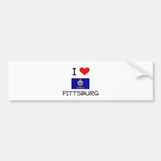 I Love PITTSBURG Kansas Bumper Sticker