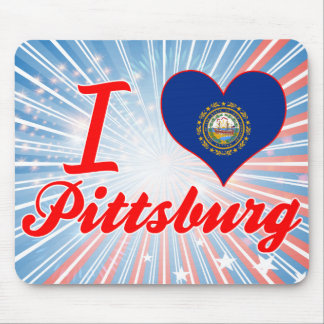 I Love Pittsburg, New Hampshire Mouse Pad