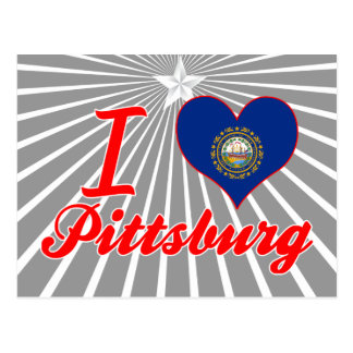 I Love Pittsburg, New Hampshire Post Cards