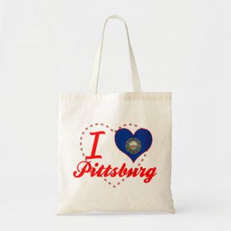 I Love Pittsburg, New Hampshire Tote Bag