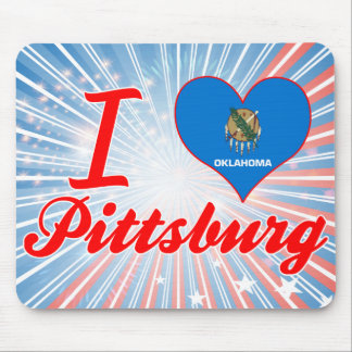 I Love Pittsburg, Oklahoma Mouse Pads