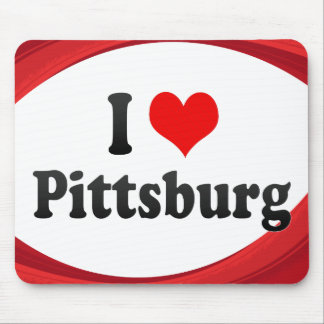 I Love Pittsburg, United States Mouse Pad