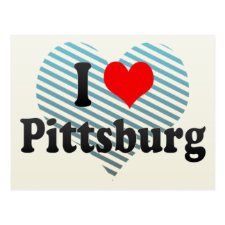 I Love Pittsburg, United States Post Card