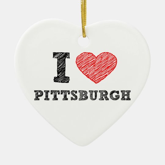I-Love-Pittsburgh Ceramic Ornament