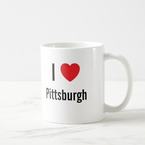 I love Pittsburgh Classic White Coffee Mug