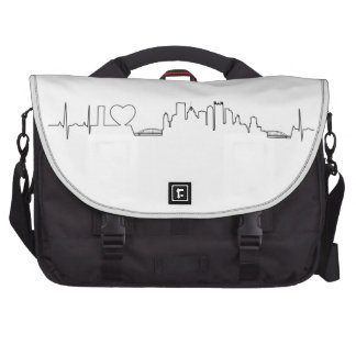 I love Pittsburgh in an extraordinary ecg style Laptop Computer Bag