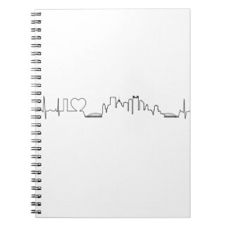 I love Pittsburgh in an extraordinary ecg style Spiral Note Book