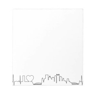 I love Pittsburgh in an extraordinary ecg style Notepads