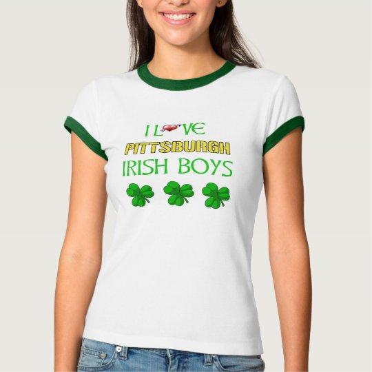 I love Pittsburgh Irish Boys Ringer T-Shirt