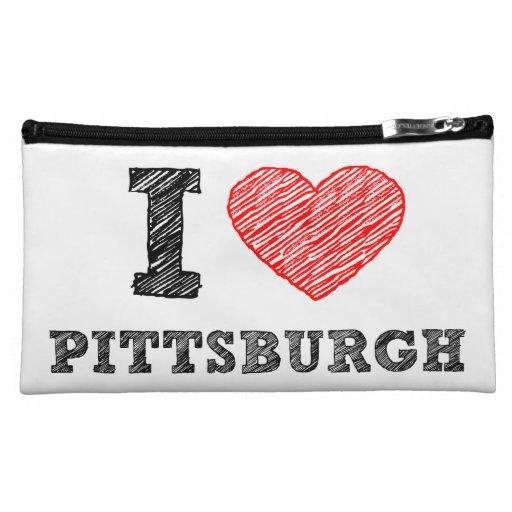 I-Love-Pittsburgh Makeup Bags