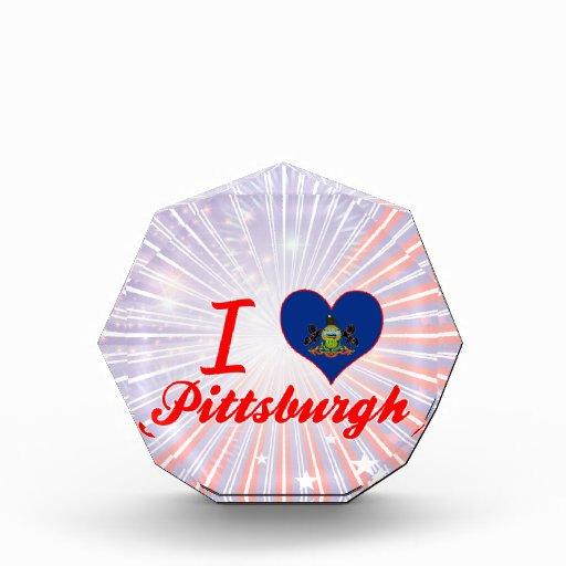 I Love Pittsburgh, Pennsylvania Acrylic Award