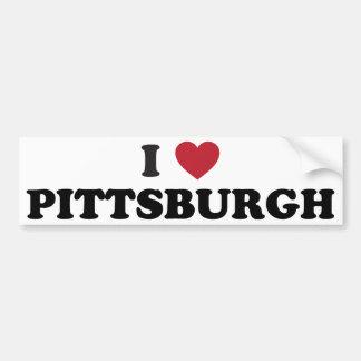 I Love Pittsburgh Pennsylvania Bumper Sticker