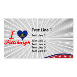 I Love Pittsburgh, Pennsylvania Double-Sided Standard Business Cards (Pack Of 100)