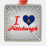 I Love Pittsburgh, Pennsylvania Christmas Ornament