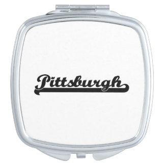 I love Pittsburgh Pennsylvania Classic Design Mirror For Makeup