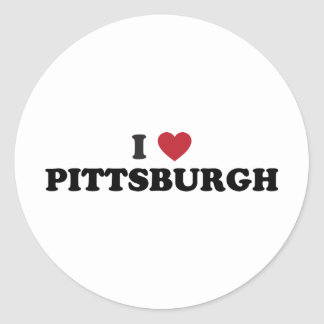 I Love Pittsburgh Pennsylvania Classic Round Sticker