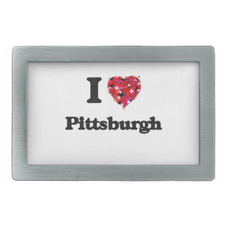 I love Pittsburgh Pennsylvania Rectangular Belt Buckle