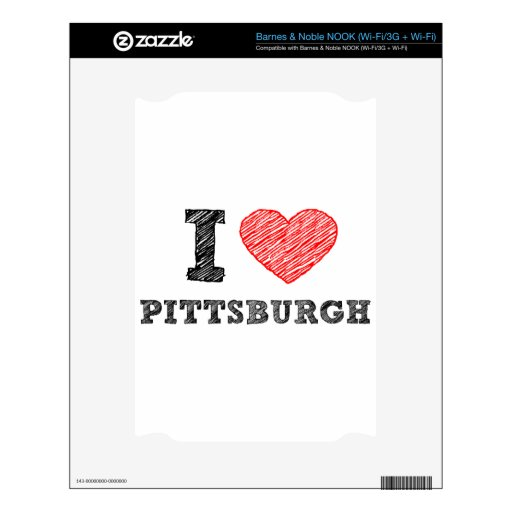 I-Love-Pittsburgh Skin For The NOOK