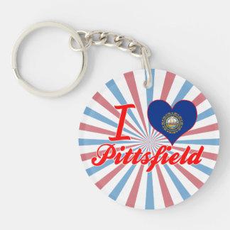 I Love Pittsfield, New Hampshire Keychains