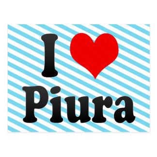 I Love Piura, Peru Postcard