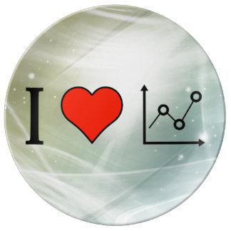 I Love Pivot Chart Porcelain Plate